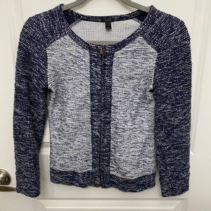 J Crew Navy and Light Blue Sweater in size XXS